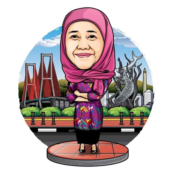 Karikatur Khofifah Indar Parawansa, Gubernur Jawa Timur (Istimewa/ Dok Facebook )