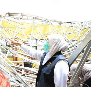Gubernur Jatim, Khofifah meminta warga untuk mewasdai gempa susulan. (Istimewa/ Pemprov Jatim)
