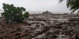 Banjir bandang di Lembata, NTT. (Istimewa/ BPBD Lembata)