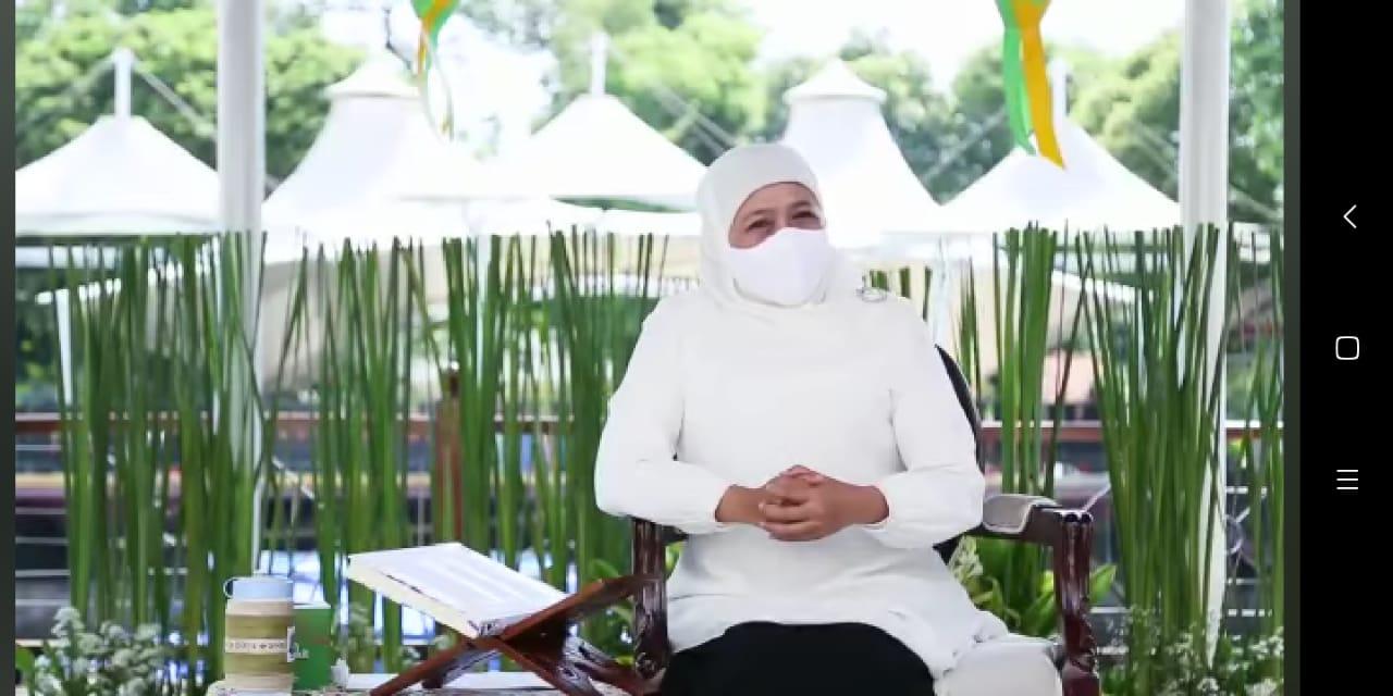 Gubernur Jatim, Khofifah Indar Parawansa saat mengucapkan selamat Hari Kartini. (Istimewa/ FB Khofifah )