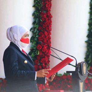 Peringati Hari Kesaktian Pancasila, Gubernur Khofifah : Pancasila Jadi Modal untuk Bangkit dari Keterpurukan akibat Pandemi Covid-19